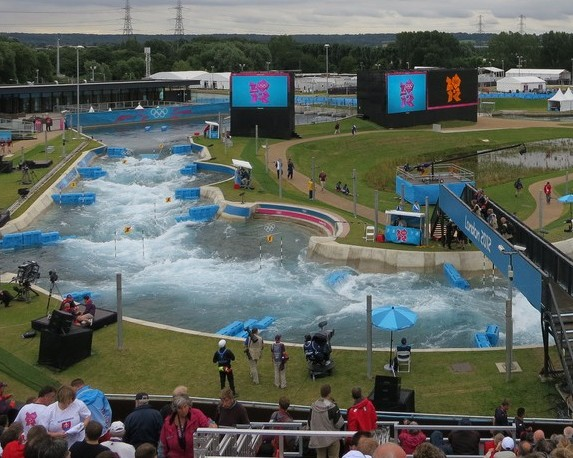 The white water rapids at Lee Valley where Alan Soards died during a training exercise