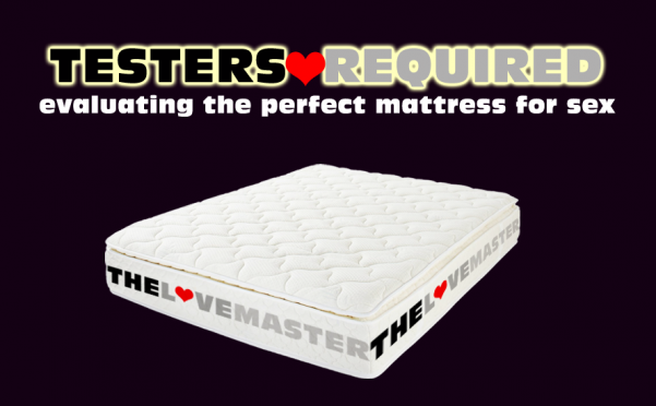 The Lovemaster mattress which is designed specifically for sex