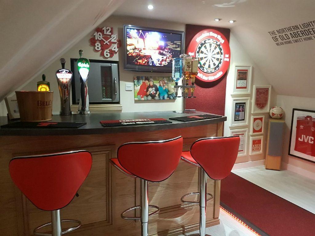 Graeme Strachan's games room.