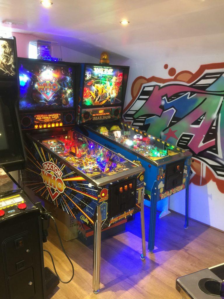 Eddie Mabin's games room.