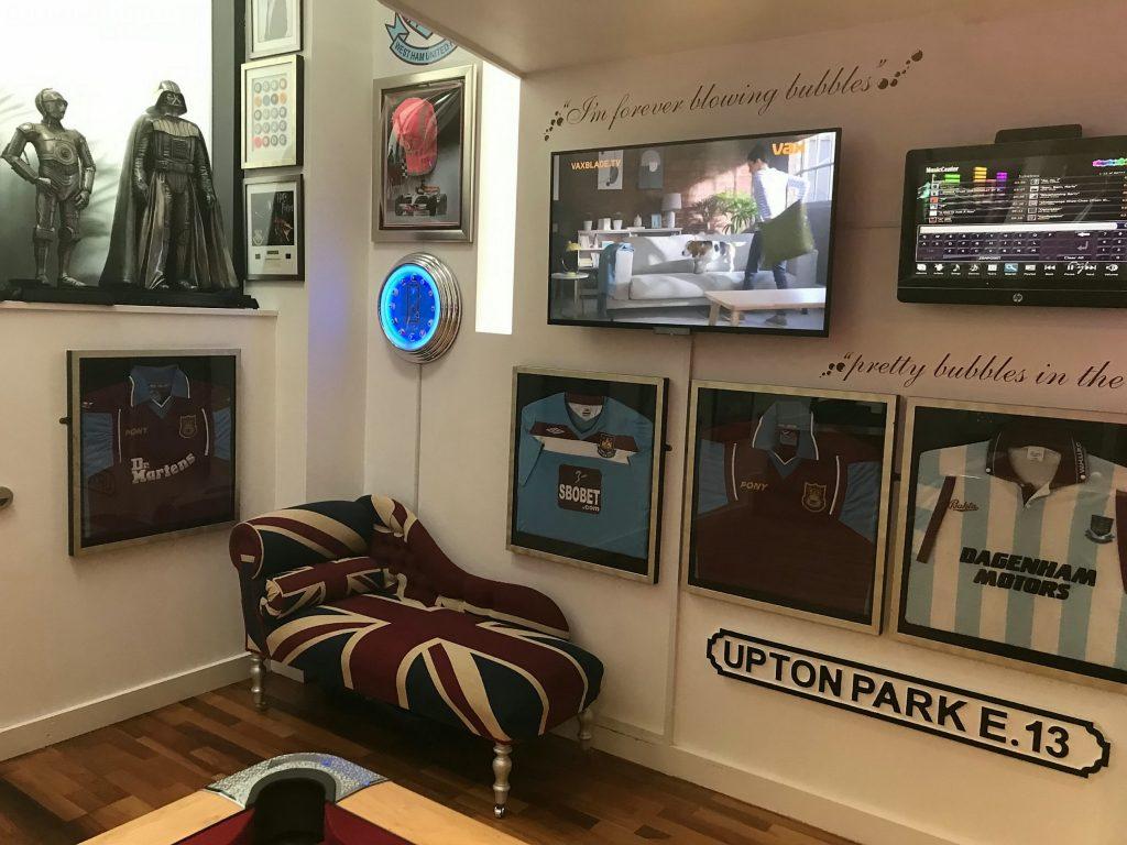 Peter Goldby's games room.