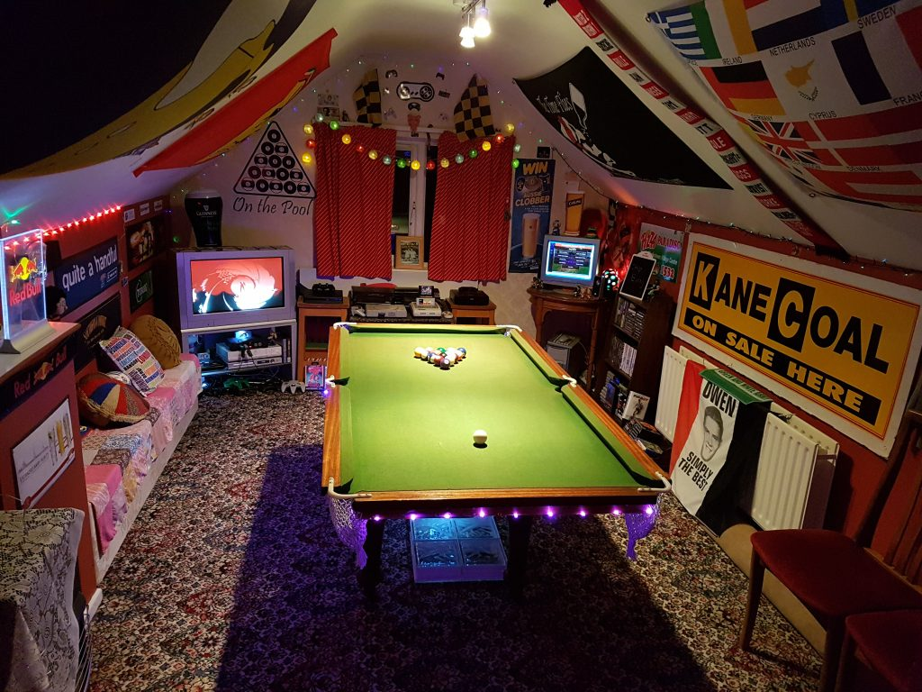 Andy Blair's games room.
