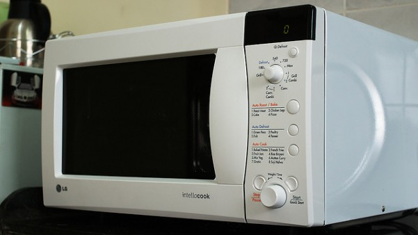 A microwave like the one that was used to kill the pet rabbit
