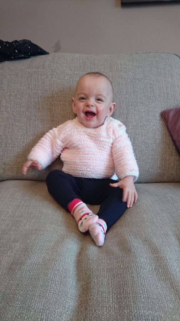 Abi Peters was born at just 23 weeks and had surgery when she was six days old, weighing only 609g.