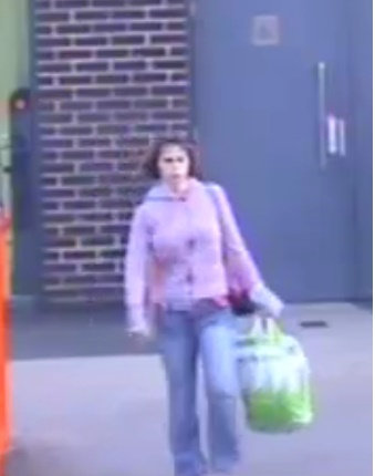 Stills of CCTV of missing Clydebank woman Karen Brown of Kirkwood Avenue, Clydebank, see at Buchanan Bus Station, where she boarded a MegaBus to London.