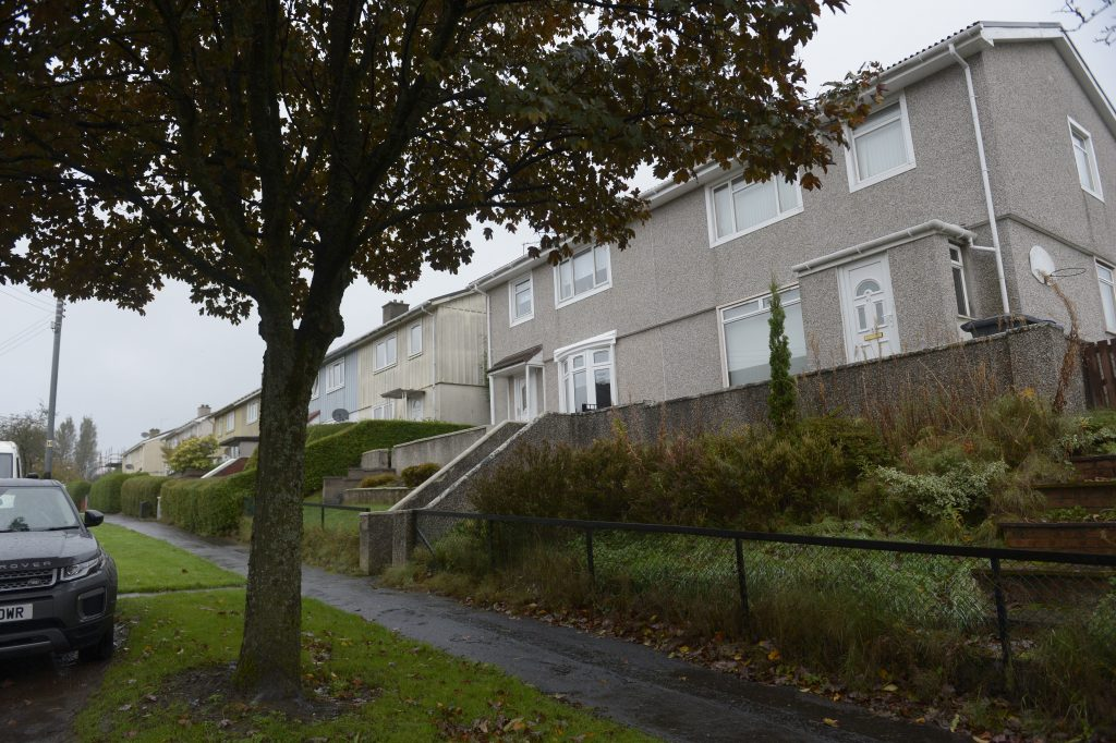 The home of Karen Brown on Kirkwood Avenue, Clydebank, where she was last seen on October 13, 2017.