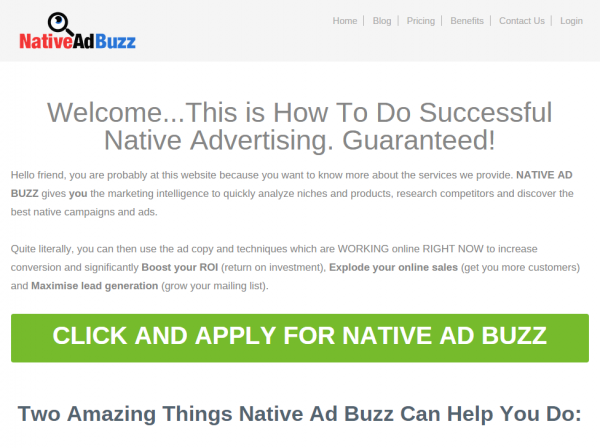 Native Ad Buzz combines content with stats from social media shares