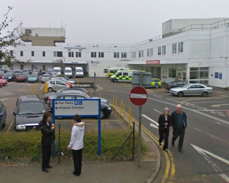 Northamptonshire General Hospital, where a nurse told patients to wait while she wrote her Christmas cards