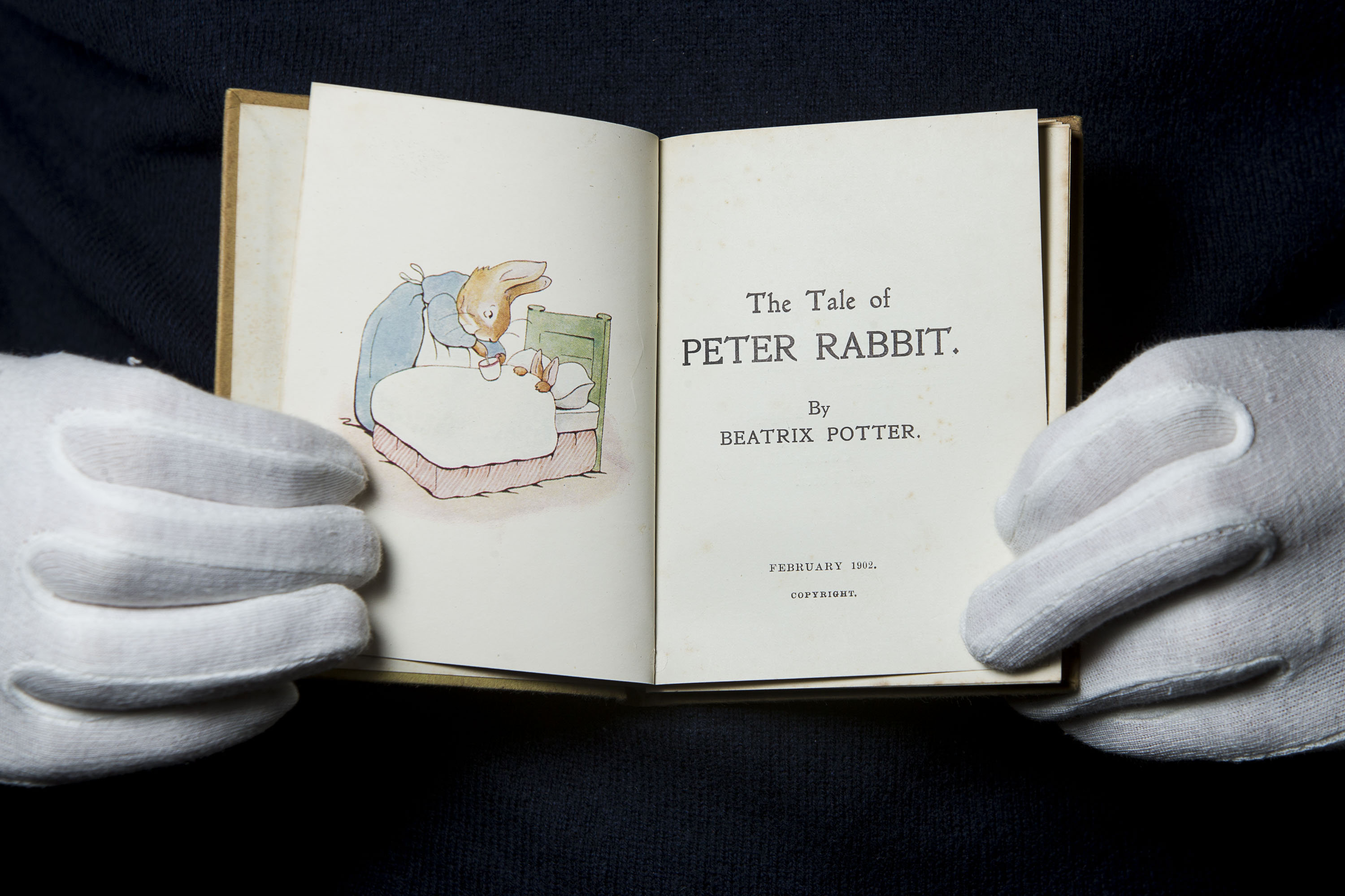 First edition of beatrix potter's the tale of peter rabbit to go.