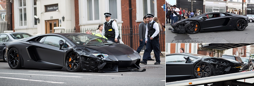 Red Faced Owner Of 300 000 Lamborghini Supercar Crashes Into Two