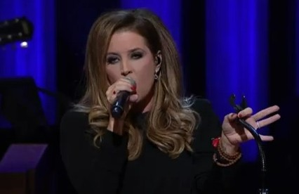 Lisa Marie Presley performs at the Grand Ole Oprey. She has now been spotted working at a fish and chip van in Sussex