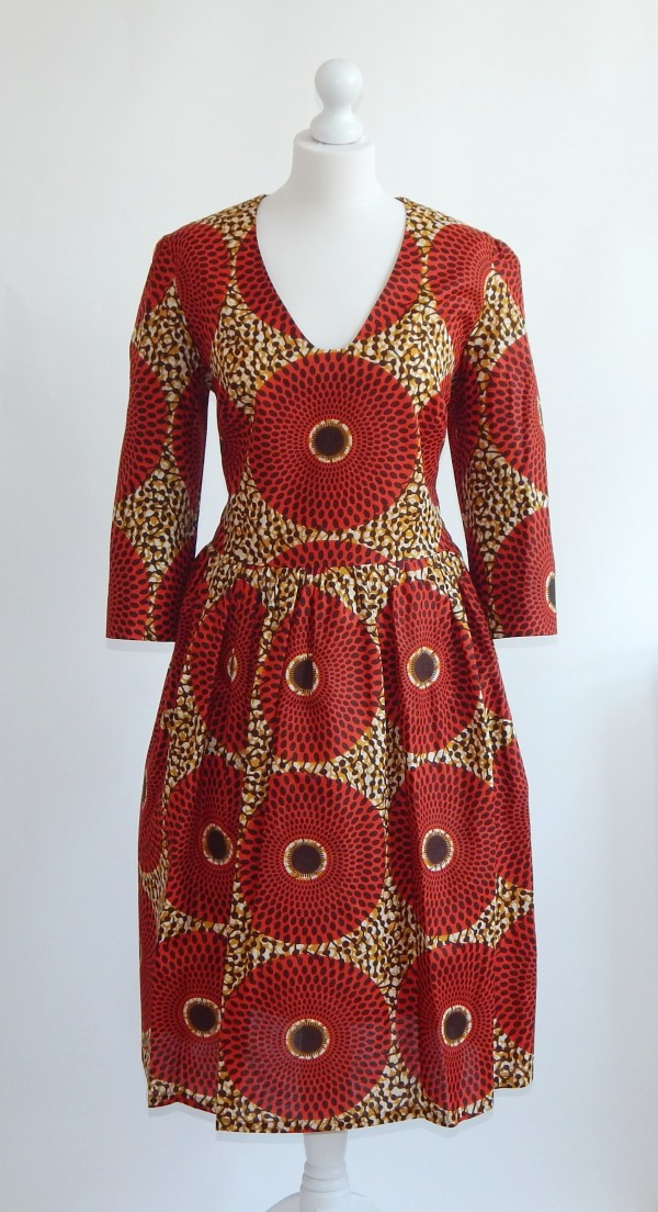 One of the African print dresses from Sasaako