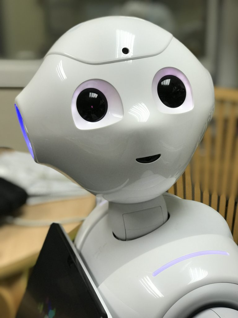 Pepper the robot designed by Japanese company, Softbanks.