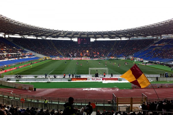 The Roma stadium in Italy