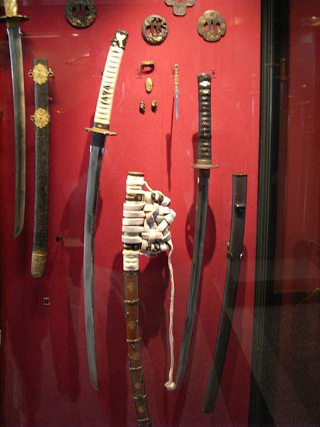 A collection of Samurai swords