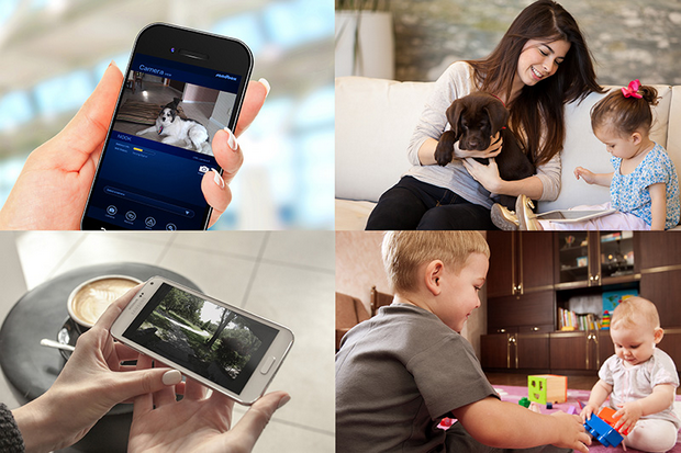 The Sandbox security system allows users to monitor their home from their smartphone or tablet
