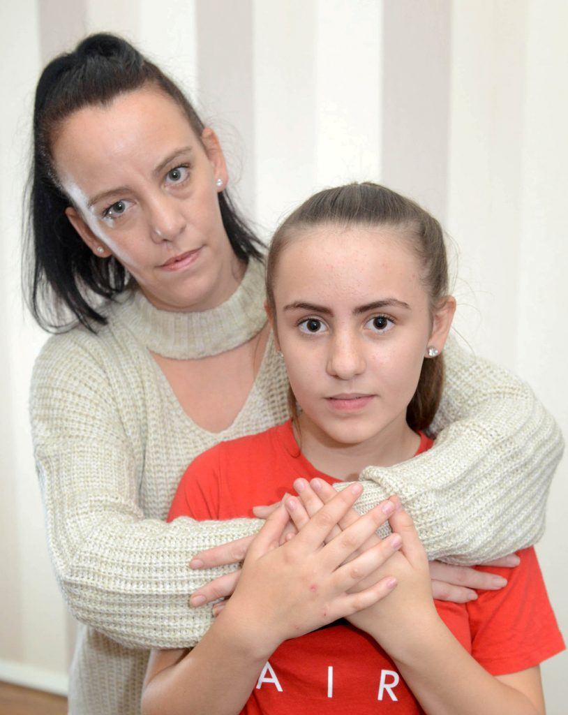 Holly Dolan (13) with mum, Lisa Wilson.