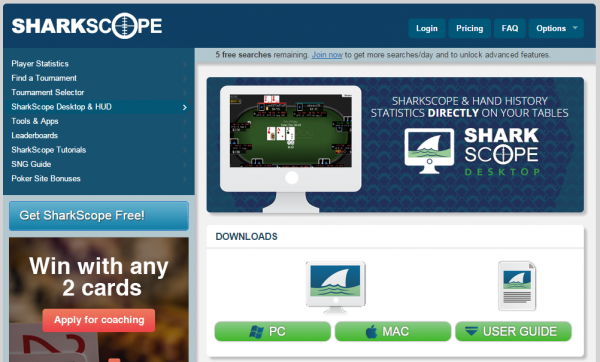 SharkScope desktop can give an advantage to online poker players