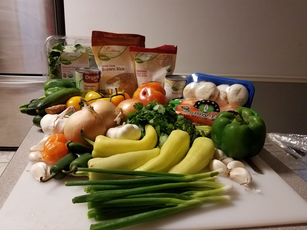 The fresh ingredients used for the tacos.