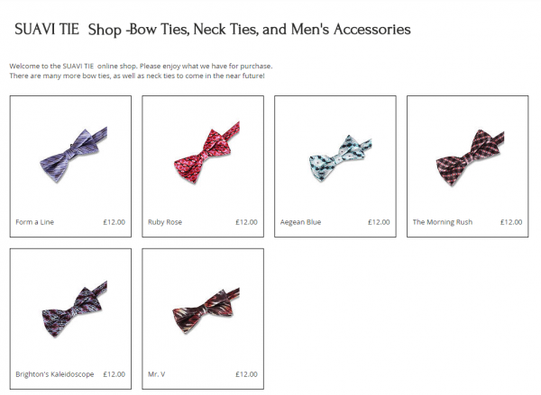 A selection of the bow ties available from Suavi Tie