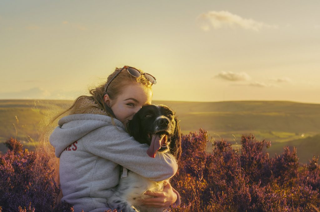 Chloe Fuller, 19, from Haslingden, Lancashire, with a rare heart condition trained her pet dog Ted to become her lifeline - by helping her to get changed and even putting the washing away.