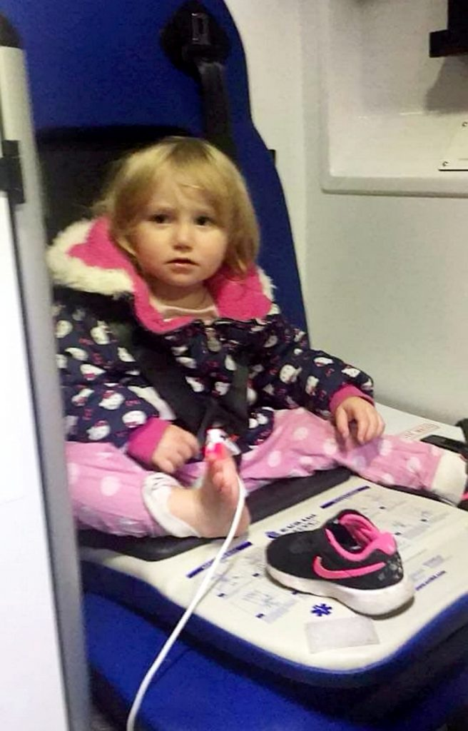 Collect picture of Iiylah-Louise  at King's Mill Hospital after the incident.
