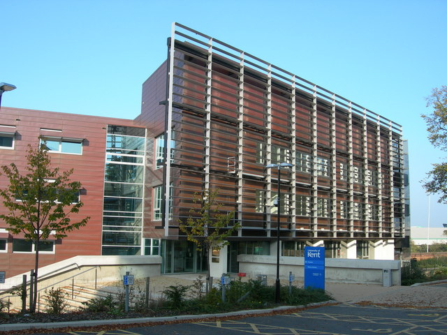 A building at the University of Kent, where the raunchy hypnosis show sparked anger from students