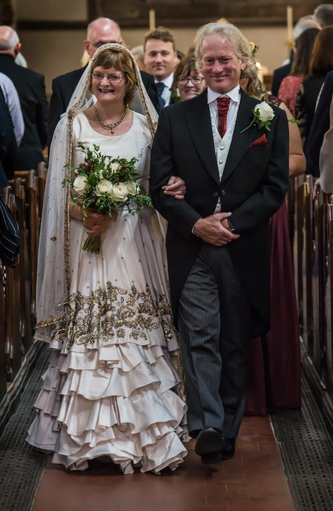 Bill and Madeleine on their wedding day in August 2017.